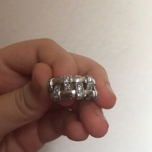 Jewelry - Sterling Silver Woman's Ring with CZs